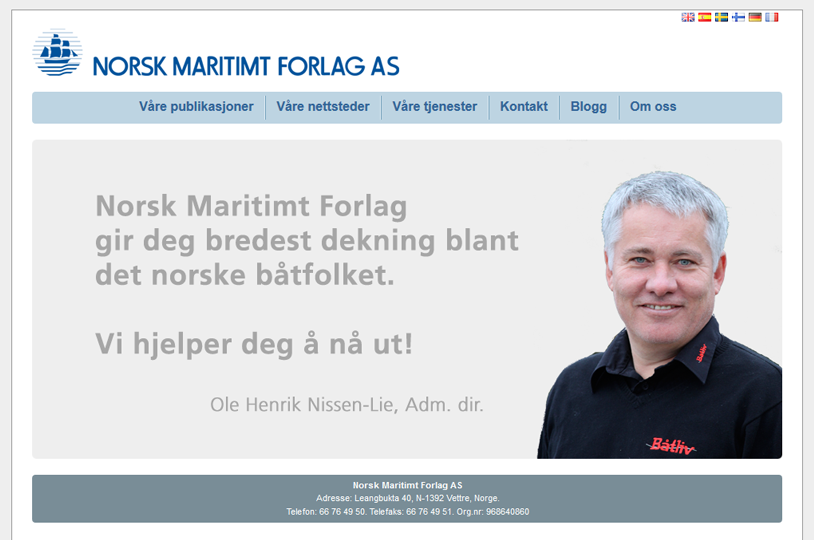 Norsk Maritimt Forlag AS website